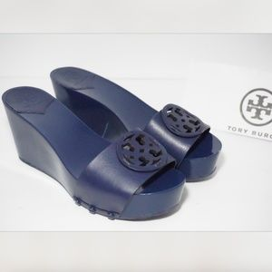 Tory Burch Miller 80mm Platform Wedge Clog Logo